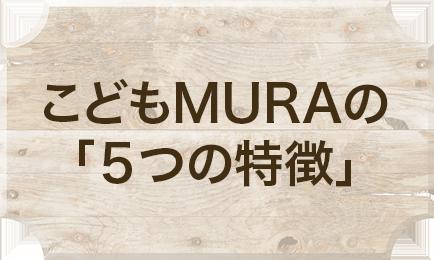 こどもMURAの「5つの特徴」